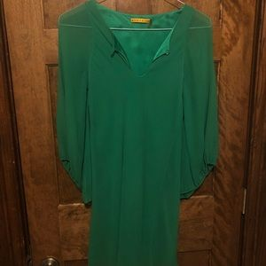 Alice + Olivia silk green dress